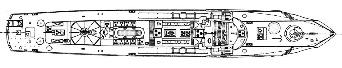 0306 schnellboot s 38 l f t 34 94 m 1 25 for Piani di coperta autoportanti
