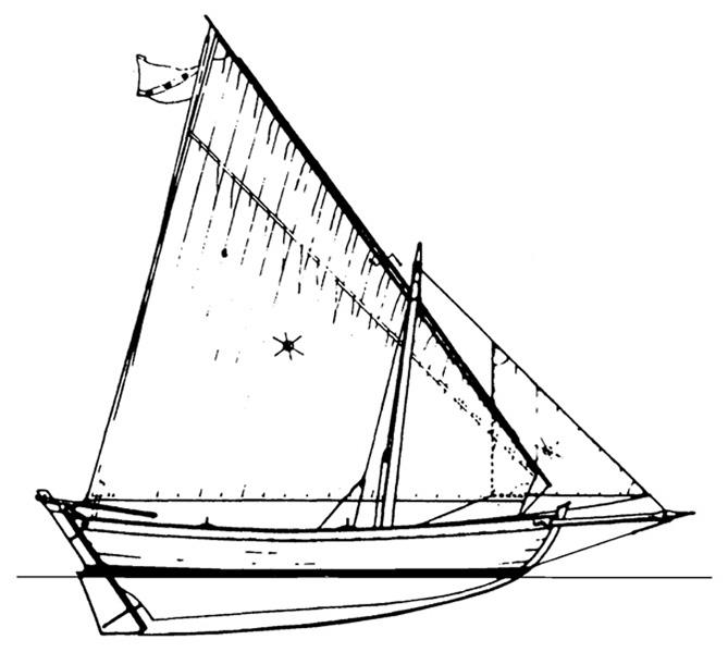 0589 barca da pesca a vela da 4 80 metri 1 10 for Piani di fondazione del ponte