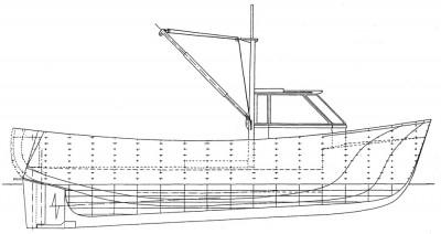 0814 imbarcazione da pesca l f t 7 04 m 1 10 for Disegnare piani di costruzione online gratuitamente